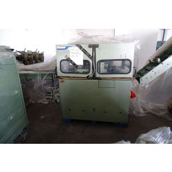 MULLER MARTINI stitching machine 300, trimmer 251, 7 feeders 279, 1 cover feeder, stacker 231